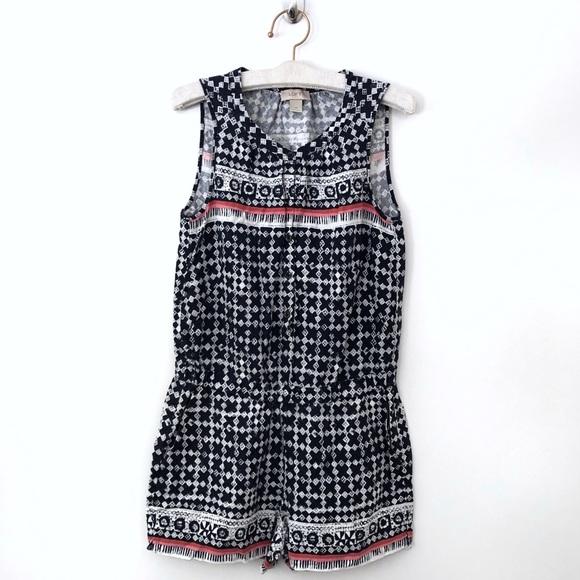 Ann Taylor Pants - Ann Taylor Loft Romper XS Shorts X Print Pattern